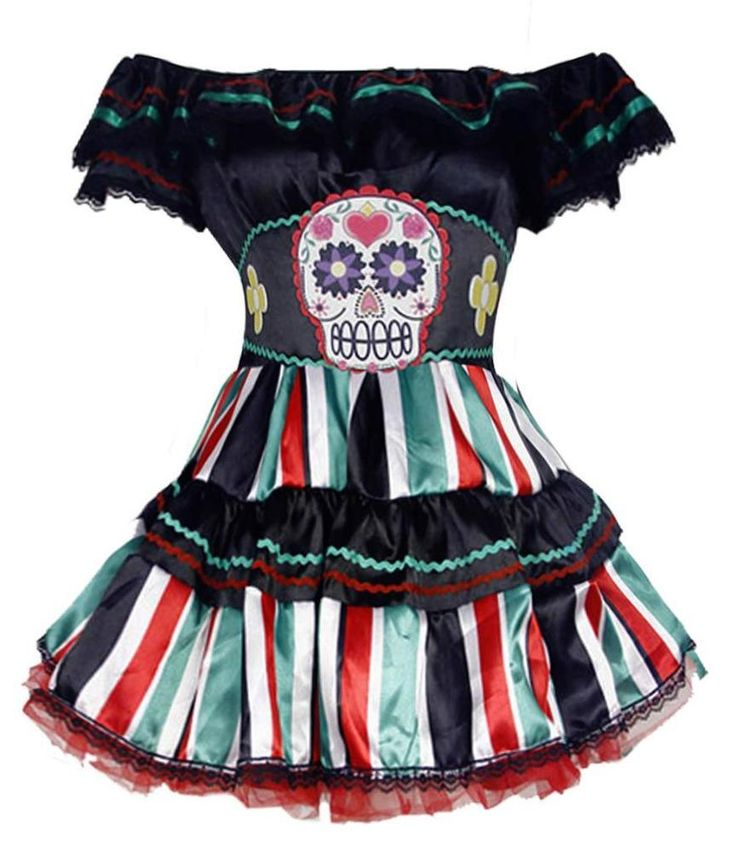 Sexy Halloween Costume Pirate Lady Off Shoulder One Piece Dress with Belt #Unbranded #Dress