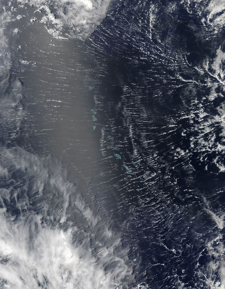 Clouds Roll Over Pacific Atolls Areas near the equator are frequently cloudy obscuring the view of Earths surface from space. April 7 2017 was no different. On that day the Moderate Resolution Imaging Spectroradiometer (MODIS) on NASAs Terra satellite captured this natural-color image of clouds over the Gilbert Islands. May 01 2017