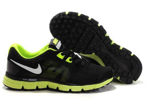 NIKE DUAL FUSION ST 2 MEN RUNNING SHOES BLACK/WHITE-VOLT $67.38