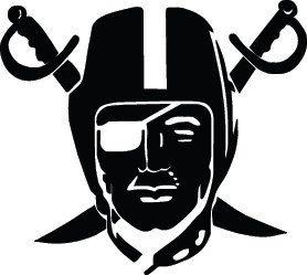Oakland Raiders Football Logo Custom Vinyl Graphic By