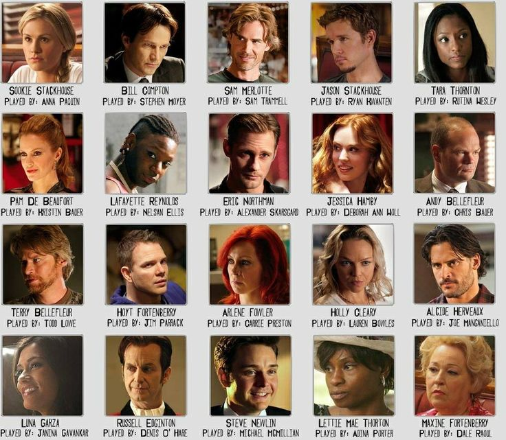 Some of the cast of True Blood