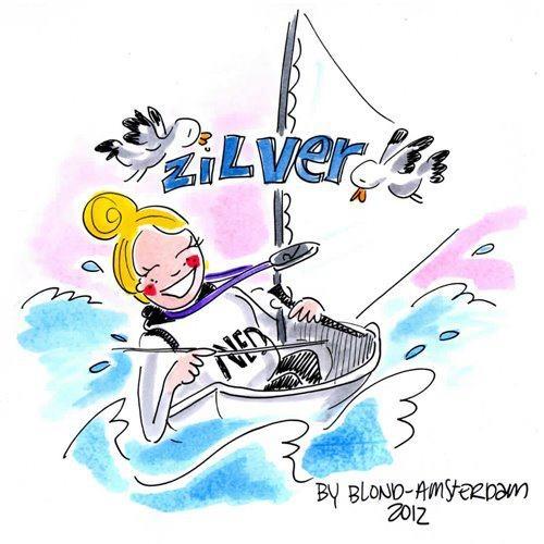 Zilveren Marit @ de Olympische Spelen door Blond Amsterdam