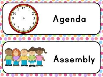 Visual Agenda for your classroom. Uneditable. Please contact me if you require any additional subjects (spanish, daily 5 etc).