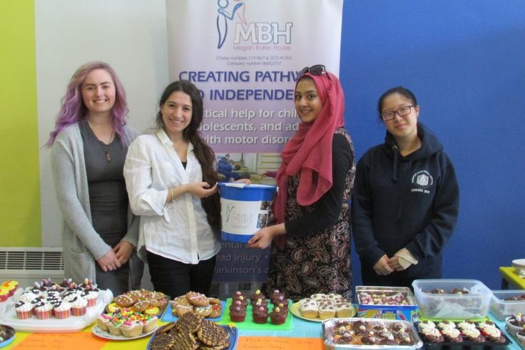 WORCESTER Sixth Form College students have raised hundreds of pounds for charity Megan Baker House with an Easter cake sale.