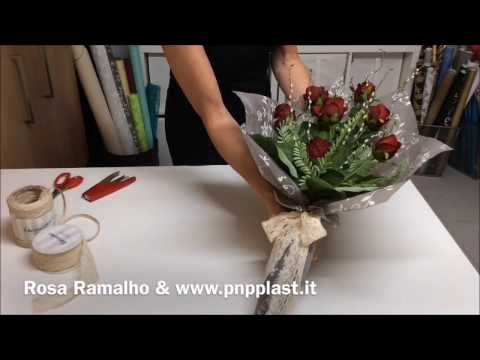 (29) Roses Tied & Wrapped for Mother's Day #wrapflowers - YouTube