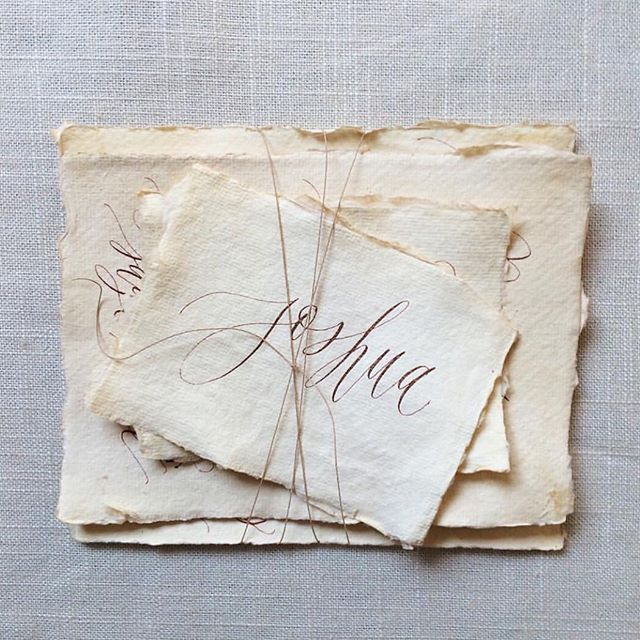 Tea stained beauties by #layersofloveliness on #silkandwillow #handmade deckled edge paper.
