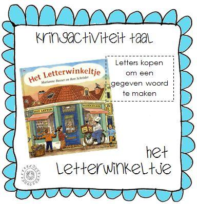 Les in het kort:  De kinderen kopen letters in het Letterwinkeltje om een woord van te maken.   Doelen:  - Het kind kan van letters een ...