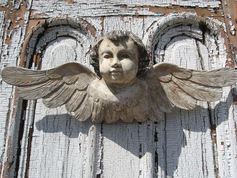 .The Doors, Wooden Angels, Front Doors, Wood Carvings, Old Doors, Angels Wings, Angels Watches, Carvings Angels, Guardian Angels