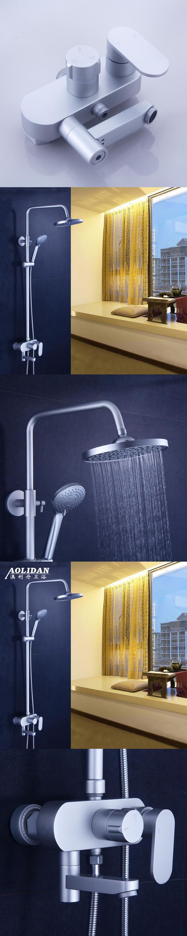 Alrec Dan space aluminum shower bathroom shower bathroom shower cold and hot water valve with the nozzle set