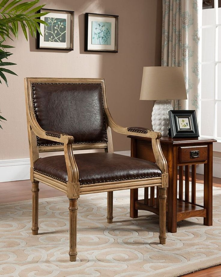 best solid wood furniture brands details about kings brand burl brown  finish with leather accent chair