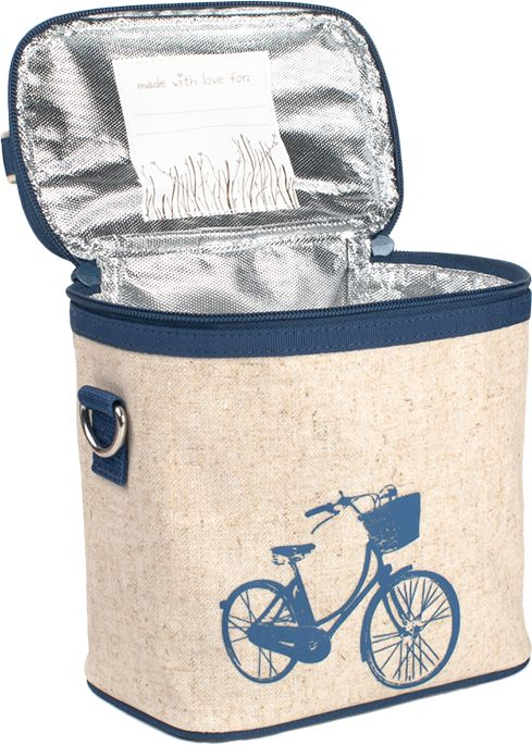 Small Cooler Bag Blue Bicycle
