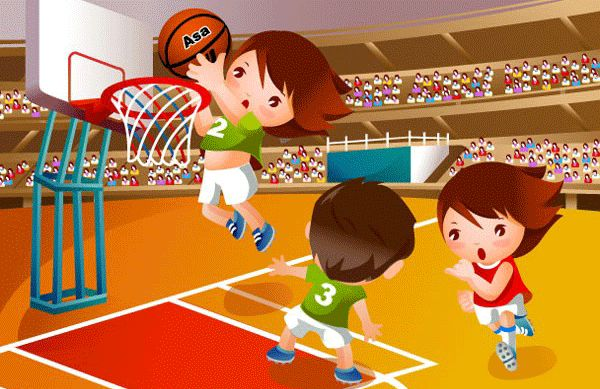 Niños haciendo deporte para imprimir
