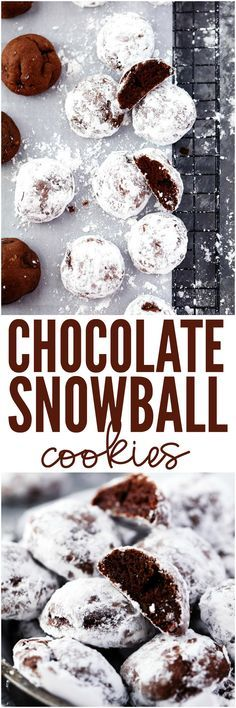 Chocolate Snowball Cookies are a buttery melt in your mouth chocolate cookie featuring ground walnuts and sprinkled with powdered sugar. This is a delicious holiday classic cookie that you need to put on your baking list!