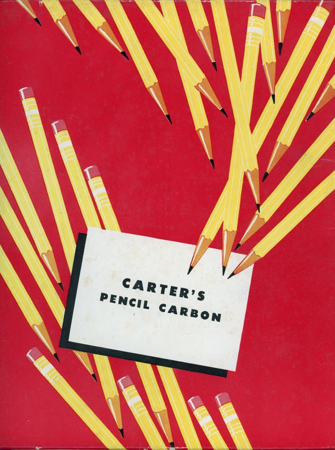 Cover of the Carter Pencil Carbon papers, n.d. Carter's Ink Company, Boston, USA. Thanks to Tina.