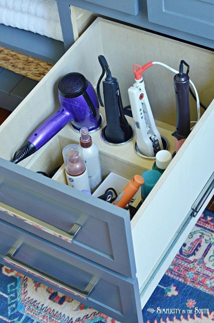 Vanity Drawer Organizer For Hair Tools And Supplies Organizing O Master Bathroom Organization Ideas Bathroom Drawer Organization Master Bathroom Organization