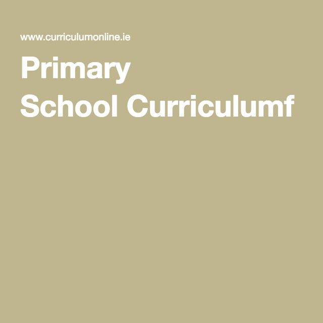 Primary School Curriculumf