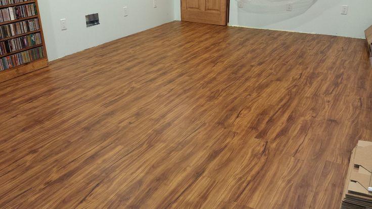 Basement floor inspiration coretec plus 5 gold coast for Coretec wood flooring