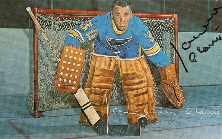 Jacques Plante played for the Montreal Canadiens from 1953 to 1963. He retired in 1965 but was persuaded to return to the National Hockey League to play for the expansion St. Louis Blues in 1968. He was later traded to the Toronto Maple Leafs in 1970 and to the Boston Bruins in 1973. He joined the World Hockey Association as coach and general manager for the Quebec Nordiques in 1973–74. He then played goal for the Edmonton Oilers in 1974–75, ending his professional career with that team.