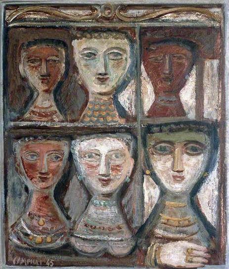 Six Women by Massimo #Campigli, 1945 #estorick