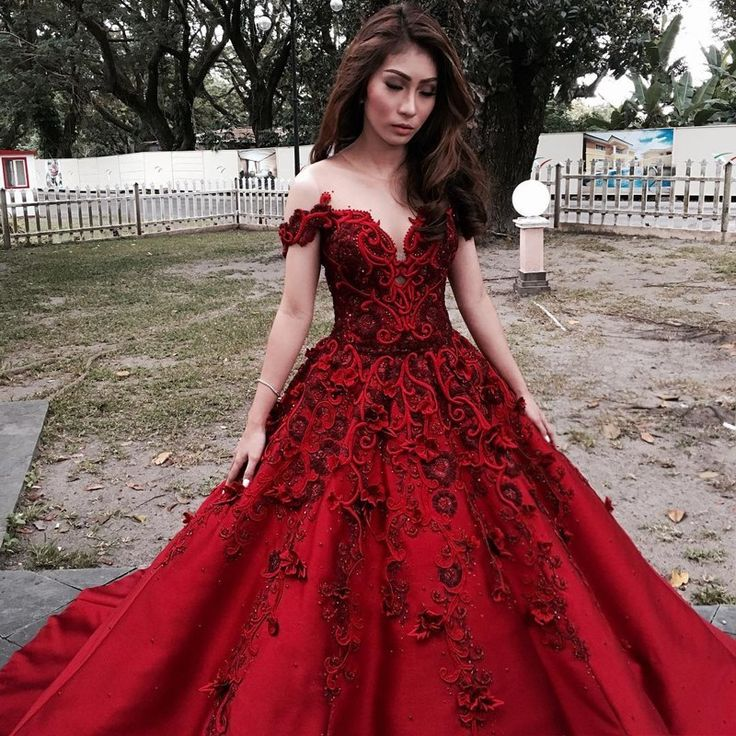 Red And White Evening Dress: A-Line Illusion Neck Cold Shoulder Dark Red Prom Dress