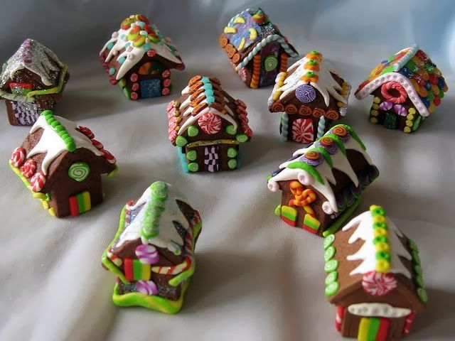 Gingerbread Houses by FIMO FUN | Polymer Clay Planet