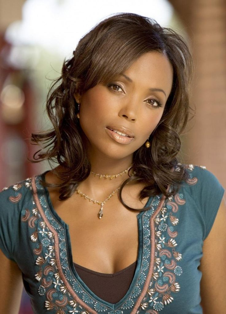 Aisha Tyler - funny, funny lady, and gorgeous to boot.  She's the new host of Whose Line Is It Anyway?