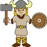 Viking Boy paper craft, free templates to print, color, cut, and paste