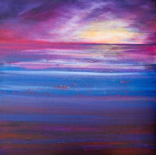 """Lowtide at Dusk Springtide Love"" by Melanie Meyer from her Emergence Art Gallery in Cape Town"