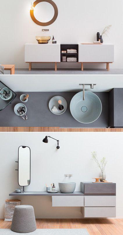 Esperanto collection by REXA DESIGN - Modular storage units and bathroom accessories - #design Monica Graffeo @rexadesign