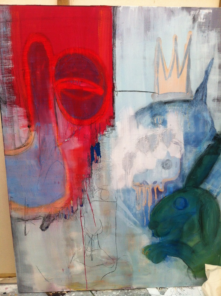 King Rex is dead - painting in oil  from the king Rex collection