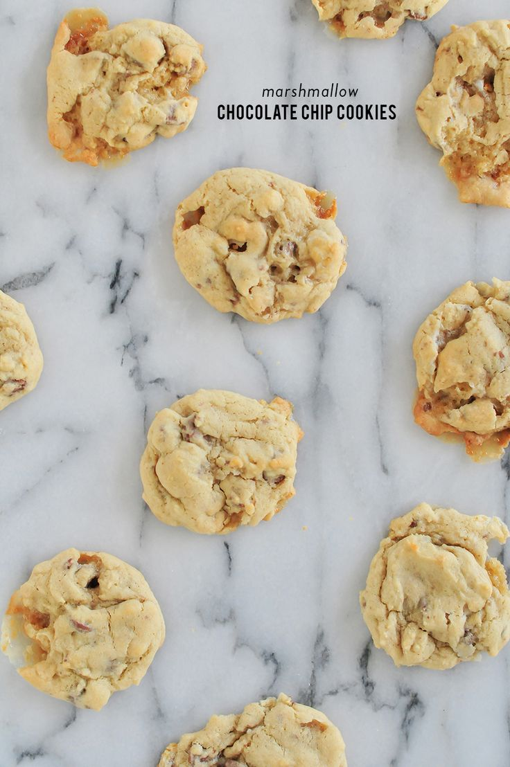 Read More on SMP: http://www.stylemepretty.com/living/2015/10/16/marshmallow-chocolate-chip-cookies/