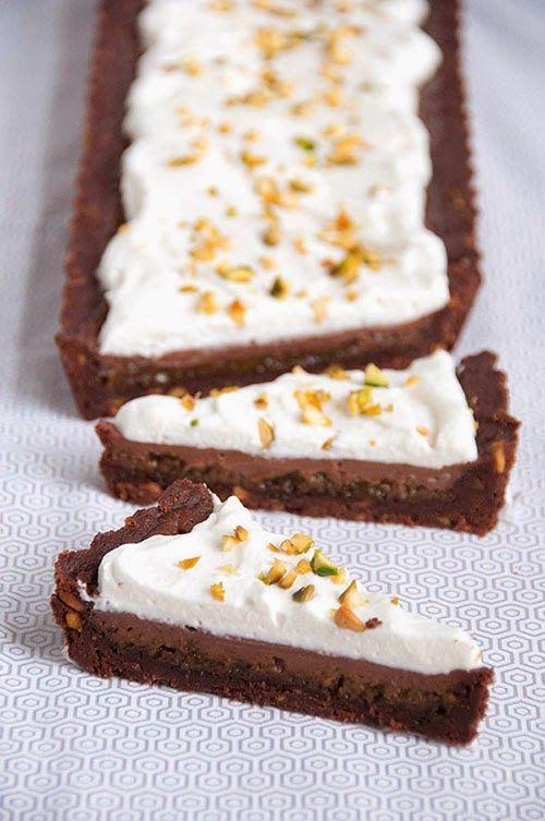 Sweet Boake | Baking Blog : Milk Chocolate and Pistachio Striped Tart