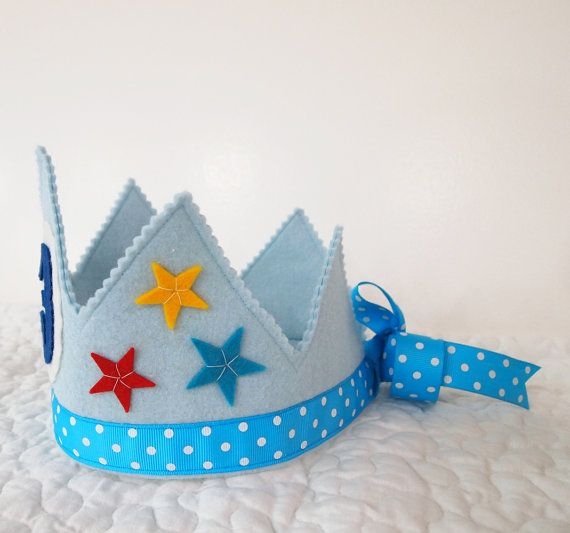 Circus Birthday Crown Felt Birthday Crown Stars por mosey en Etsy