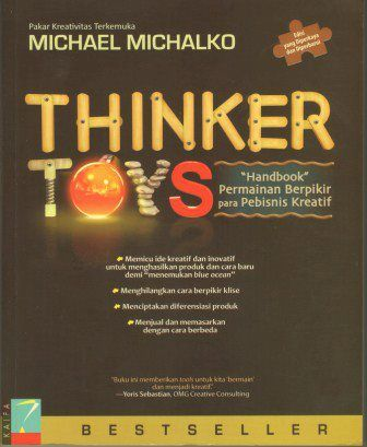 Thinker toys - game creative thinking businessman