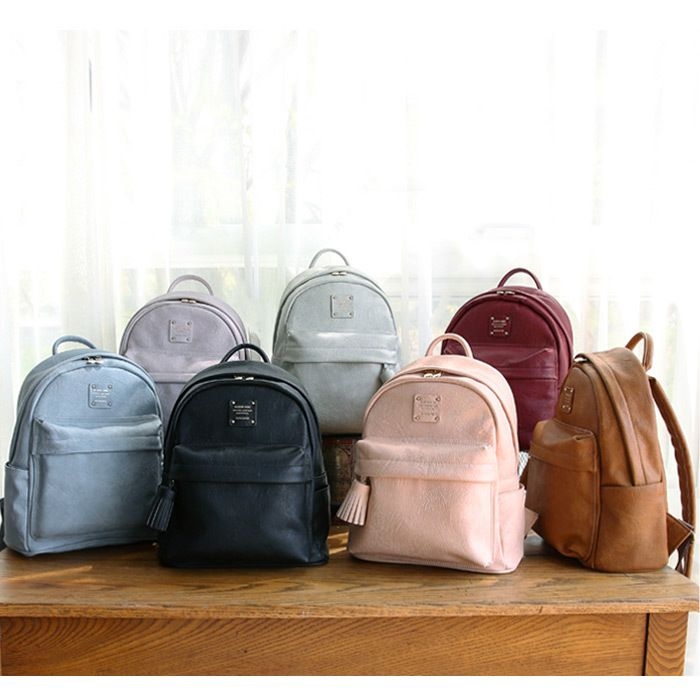 6cdca2f5f5c4 Monopoly Nuevo mini office leather backpack with tassel ...