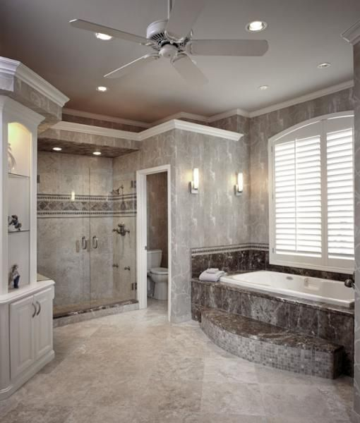 A complete master bathroom remodel in this leawood home for Master bath remodel