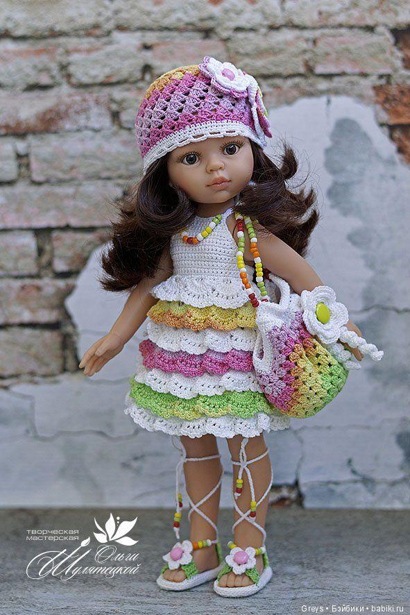 Такие разные оборочки / Куклы Паола Рейна, Paola Reina / Бэйбики. Куклы фото. Одежда для кукол