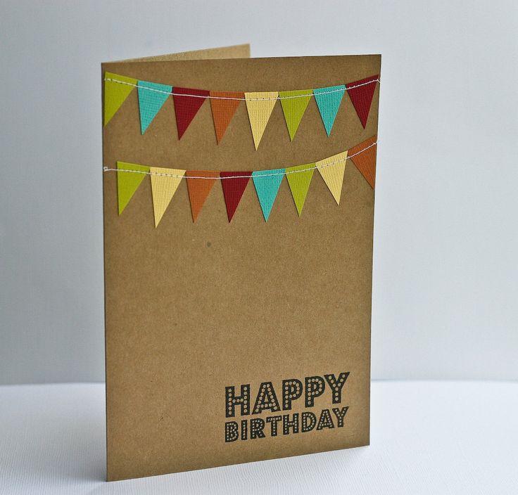 Birthday Card with Cheery Bunting Flag. $3.99, via Etsy.