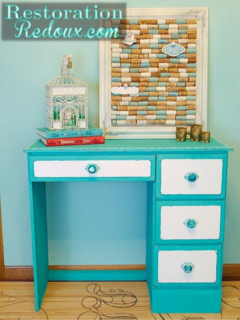 Child's Painted Desk  http://www.restorationredoux.com/?p=5897