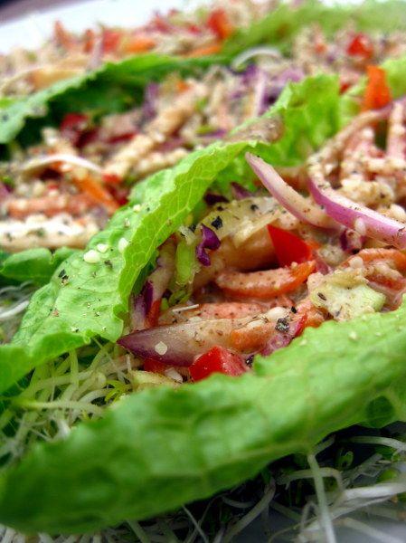 Fantastic meal!!!! Thai Lettuce Wraps - Raw Food Rehab