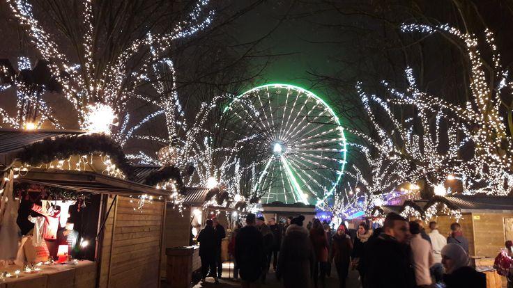 """kerstmarkt 2016 """"Zicht op reuzenrad"""" Antwerpen"""