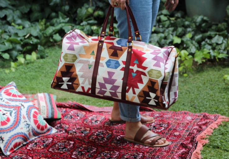 TURKISH KILIM FABRIC HANDMADE BAG
