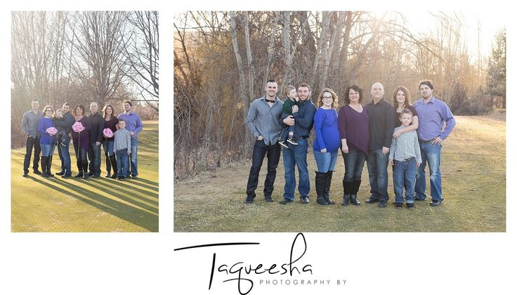 Family photos with adult children. Taking photos of a large family. Spring family photos. Photography by Taqueesha