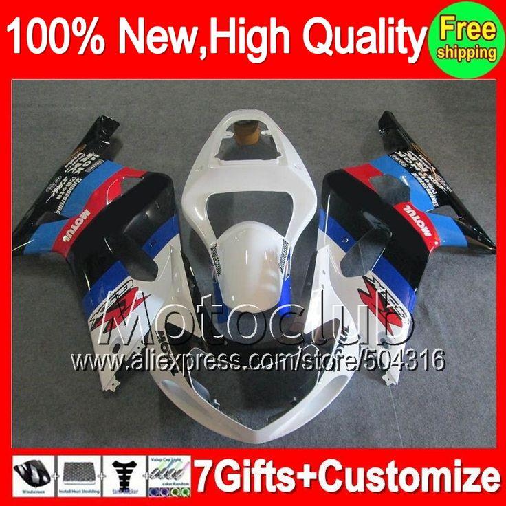 Fairing  For SUZUKI Blue black GSX-R600 K1 GSXR 600 01 02 03 81C84 GSX R600 GSXR600 Blue white 2001 2002 2003 GSXR-600 +decal