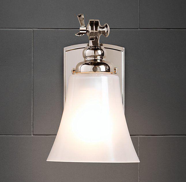 121 best images about bathroom on pinterest for Bathroom lighting restoration hardware