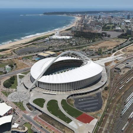 Moses Mabhida Stadium by GMP Architekten - Durban. South Africa. Went to watch British Lions win 1996.