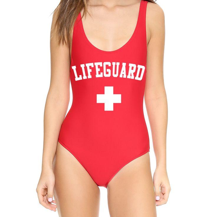 Lifeguard Swimming Suit or Halloween Costume Bodysuit!!!