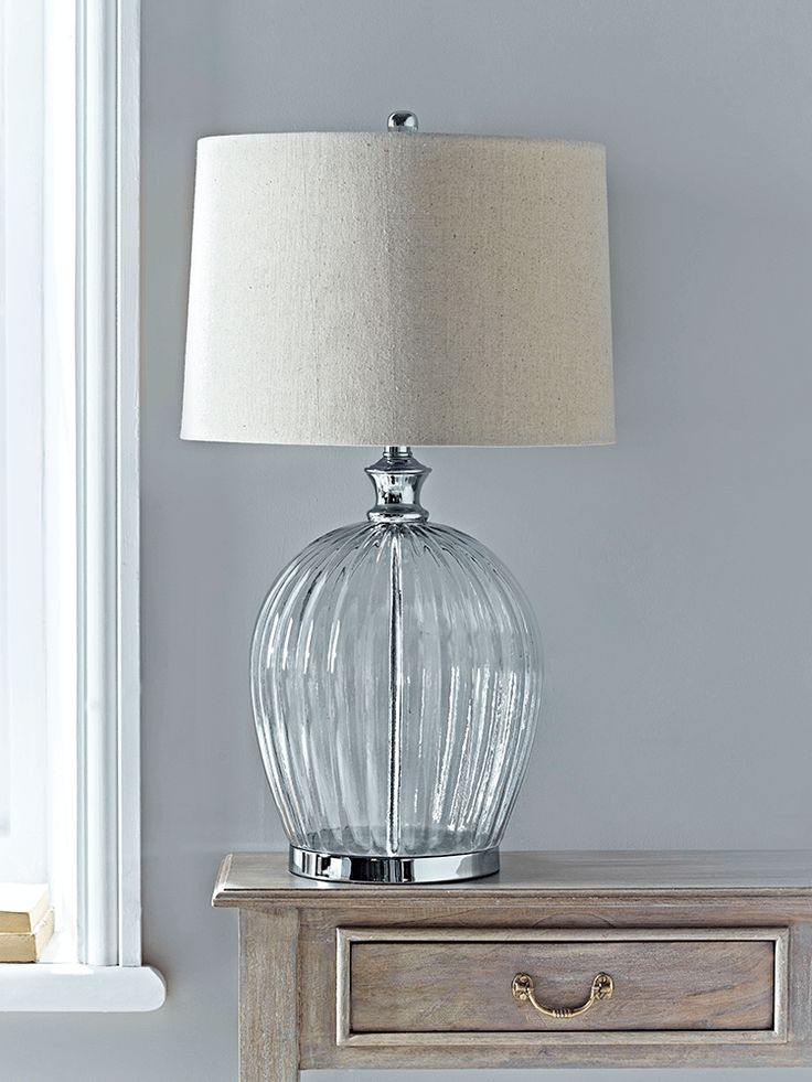 NEW Fluted Glass Table Lamp