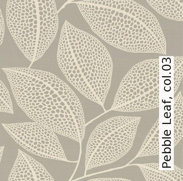 Tapete: Pebble Leaf, col.03 - TapetenAgentur