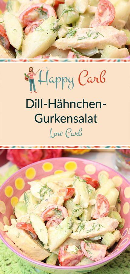 Sommerlicher Dill-Hähnchen-Gurkensalat